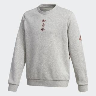 Sweat-shirt Large Logo Crew Medium Grey Heather / Scarlet FT8823