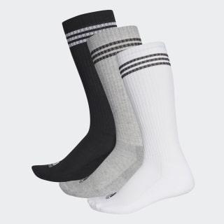 3 pares de calcetines largos 3 bandas Multicolor AY6440