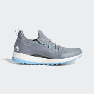 Pureboost Golf Shoes Grey / Clear Onix / Bright Cyan BB8014