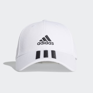 Cappellino Baseball 3-Stripes Twill White / Black / Black FQ5411