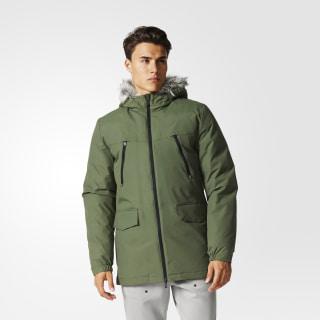 Куртка Filled Fur-Trim Base Green AZ5792