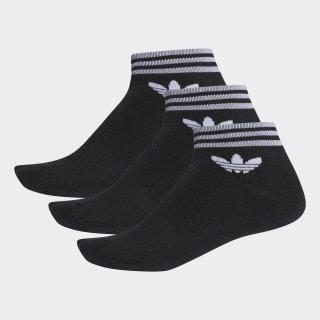 Meia Trf Ankle Stripes - 3 Pares BLACK AZ5523
