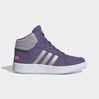 Zapatilla Hoops Mid 2.0 Tech Purple / Matte Silver / Purple Tint EH0170
