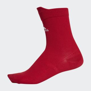 Alphaskin Ultralight Crew Socks Power Red / White CV7415