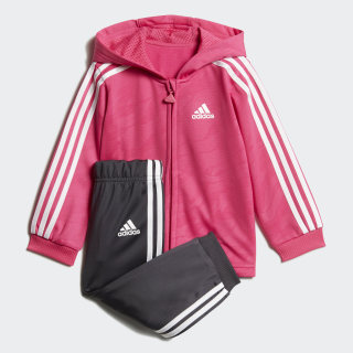 Shiny Hooded Jogger Real Magenta / White DJ1578