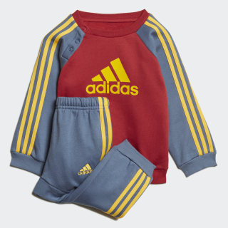 Logo Fleece Jogger Set Active Maroon / Tech Ink / Active Gold ED1161