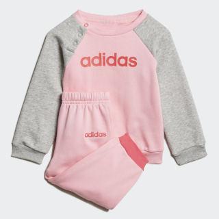 Флисовый комплект: джемпер и брюки Linear light pink / white EI7964