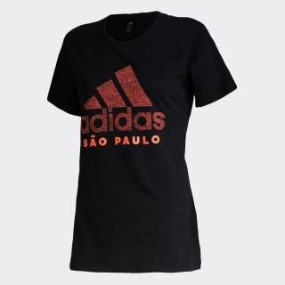 Camiseta Cidade SÃO PAULO Black / Solar Orange GG1976