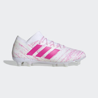 Calzado de Fútbol Nemeziz 18.1 Terreno Firme Ftwr White / Shock Pink / Shock Pink BB9427