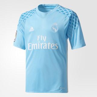Real Madrid Torwart-Heimtrikot Bright Cyan / Crystal White AI5177