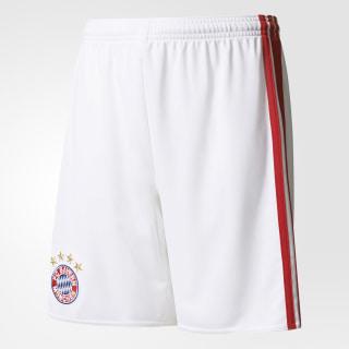 FC Bayern München Home Shorts White/True Red AI0060