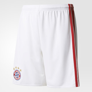 FC Bayern München Home Shorts White / True Red AI0060