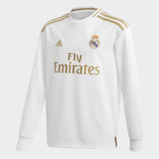 Jersey Manga Larga Real H Y White DX8842