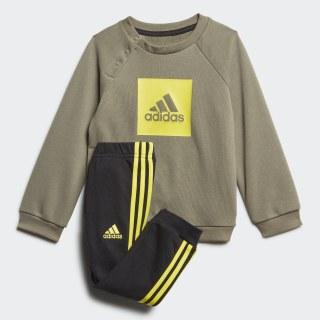 Ensemble bébés 3-Stripes Logo Legacy Green / Shock Yellow FR5306