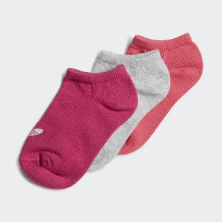 Liner Socks 3 Pairs Real Magenta / White ED5904