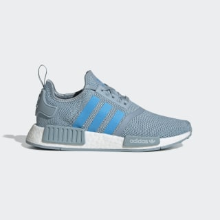 NMD_R1 Shoes Ash Grey / Shock Cyan / Cloud White G27688