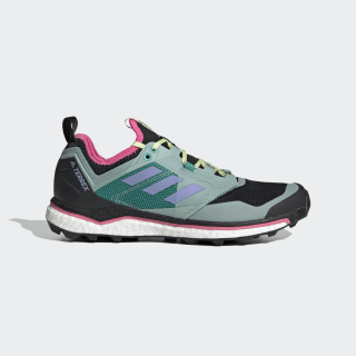 Zapatilla Terrex Agravic XT Trail Running Core Black / Light Purple / Glory Green EH0078