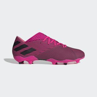 Bota de fútbol Nemeziz 19.2 césped natural seco Shock Pink / Core Black / Shock Pink F34384