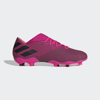 Футбольные бутсы Nemeziz 19.2 FG shock pink / core black / shock pink F34384