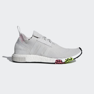 NMD_Racer Primeknit Shoes Grey One / Grey One / Solar Pink CQ2443
