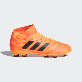Calzado de Fútbol Nemeziz 18.3 Terreno Firme ZEST/CORE BLACK/SOLAR RED DB2352