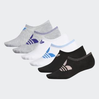 Trefoil Superlite No-Show Socks 6 Pairs Lt Vap Pink Mel CL5034
