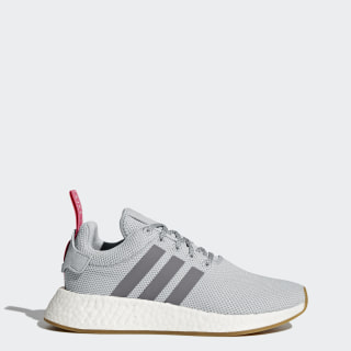 NMD_R2 Shoes Grey Two / Grey Three / Shock Pink BY9317