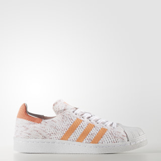 Superstar 80s Primeknit Shoes Semi Flash Orange/Footwear White/Collegiate Burgundy BY9206