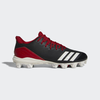 Icon 4 MD Cleats Core Black / Running White / Power Red CG5259