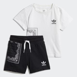 Conjunto camiseta y pantalón corto Bandana White / Black DW3855