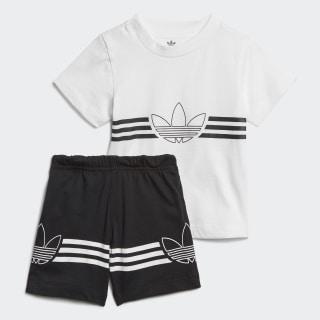 Outline T-Shirt und Shorts Set White ED8663