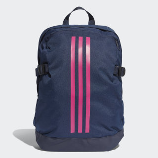 Mochila mediana 3 bandas Power Collegiate Navy / Real Magenta / Real Magenta DM7682