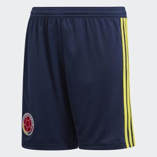 Pantaloneta Oficial Selección de Colombia Local Niño 2018 COLLEGIATE NAVY/BRIGHT YELLOW BR3503