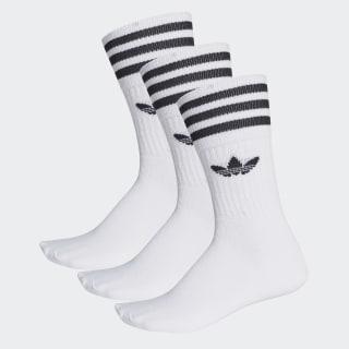 Crew sokker, 3 par White/Black S21489