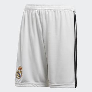 Shorts Real Madrid Local Niño 2018 CORE WHITE/BLACK CG0549