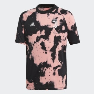 Camisola de Aquecimento Principal da Juventus Pink / Black FJ0738