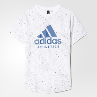 Playera estampada Adidas Junior WHITE/CORE BLUE BK3511
