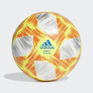 Piłka Conext 19 Top Capitano White / Solar Yellow / Solar Red / Football Blue DN8636
