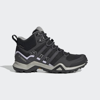 Terrex Swift R2 Mid GORE-TEX Hiking Shoes Core Black / Solid Grey / Purple Tint EF3357