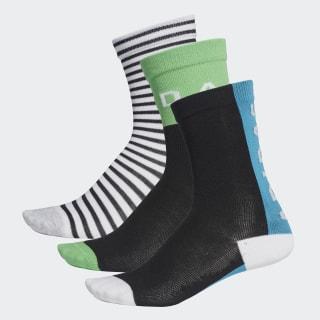 Три пары носков Graphic white / shock cyan / shock lime DW4745