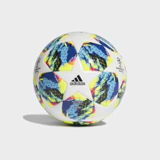 Pelota FINALE MINI White / Bright Cyan / Solar Yellow / Shock Pink DY2563