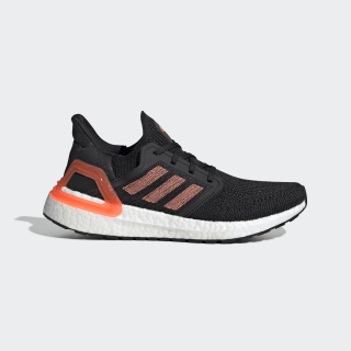 Tenis para correr Ultraboost 20 Core Black / Signal Coral / Cloud White EG0717