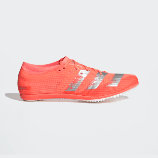 Adizero Ambition Spikes Signal Coral / Silver Metallic / Cloud White EE4606