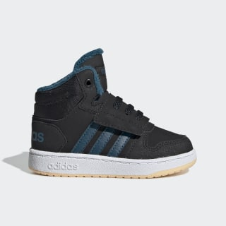 Hoops 2.0 Mid Schoenen Core Black / Tech Mineral / Glow Orange EE6710