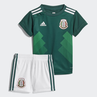 Kit Mexico Home Mini 2018 COLLEGIATE GREEN/WHITE WHITE/COLLEGIATE GREEN BQ4690