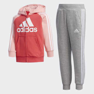 French Terry Tracksuit Core Pink / Glory Pink / Medium Grey Heather FM9730