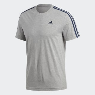 Camiseta Essentials 3-Stripes MEDIUM GREY HEATHER S98722