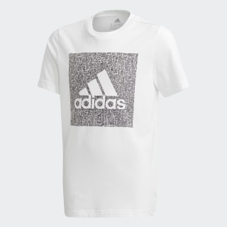Camiseta Must Haves Badge of Sport White / Black FM4487