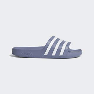 Adilette Aqua Slides Raw Indigo / Cloud White / Raw Indigo G28715