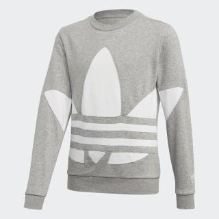 Big Trefoil Crew Sweatshirt Medium Grey Heather / White FT8838
